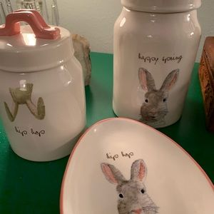 Rae Dunn Easter Canister and Plate Set